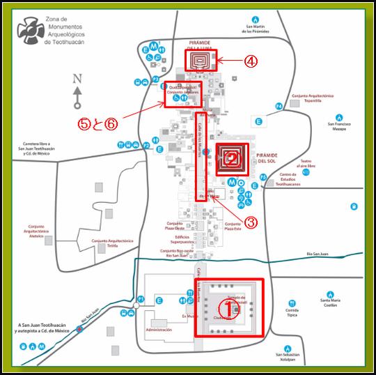 テオティワカン内部地図
