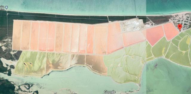 ピンクレイク航空写真