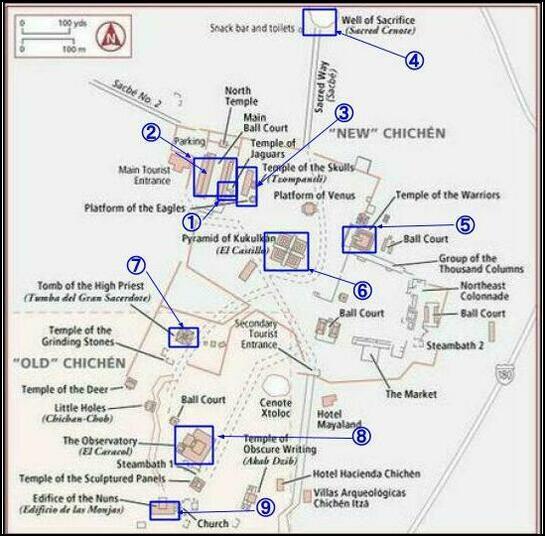 チチェンイッツァ地図
