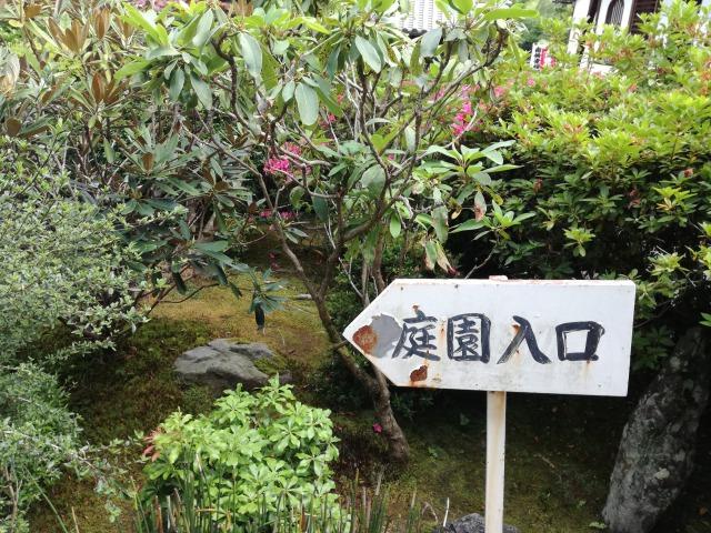 鈴虫寺の境内