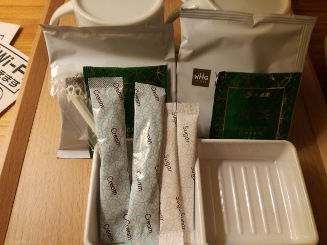 備え付けの緑茶類